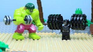 Lego Hulk Gym Fail: Bulky Black Panther