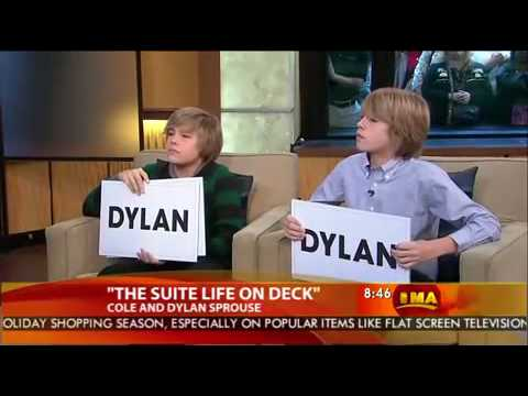 Dylan & Cole Sprouse on Good Morning America - 2008.