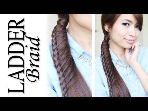Ladder Braid Ponytail Hairstyle for Medium Long Hair Tutorial - Bebexo, beautiful hairstyle