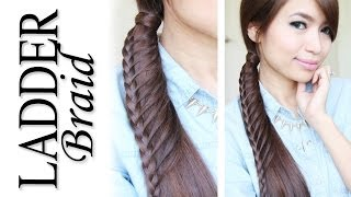 Ladder Braid Ponytail Hairstyle For Medium Long Hair