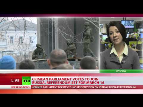 Crimea parliament backs joining Russia, sets referendum for March 16th