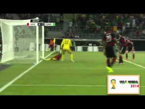 Celebracion Eto'o dedicada a Mourinho contra Alemania. Camerun - Germany