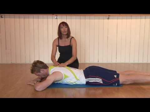 Pilates beginners back extension strengthening exercise