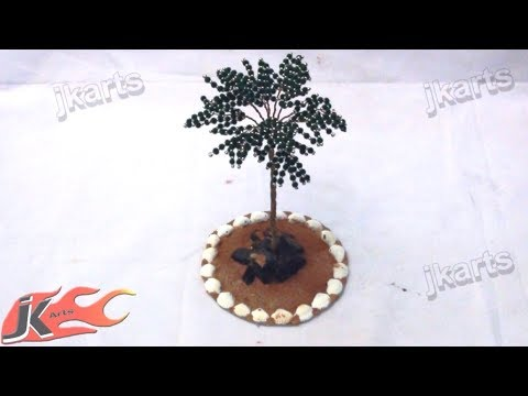 151 How to make Coconut Wire Tree -  JK Arts