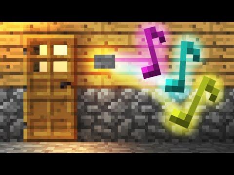 how to build a garage door in minecraft pe