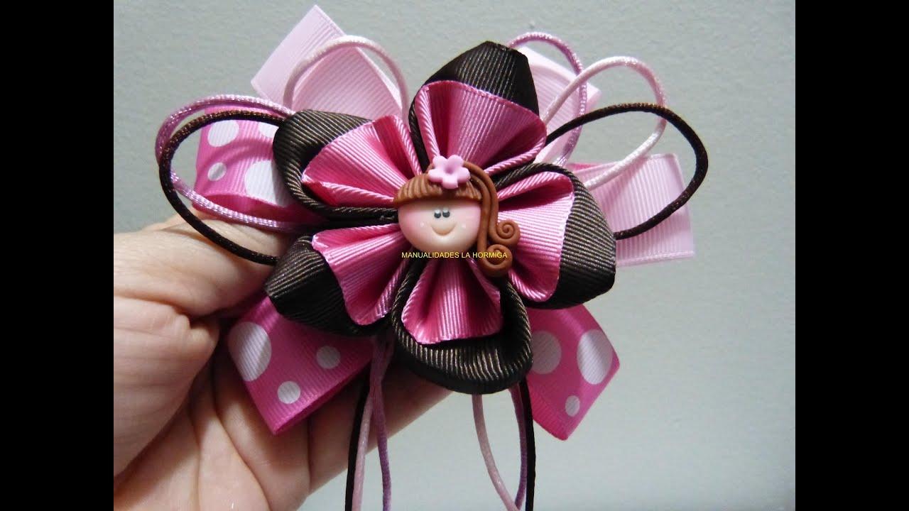 Flores en cinta faciles para decorar mo os para el cabello - Cintas para decorar ...