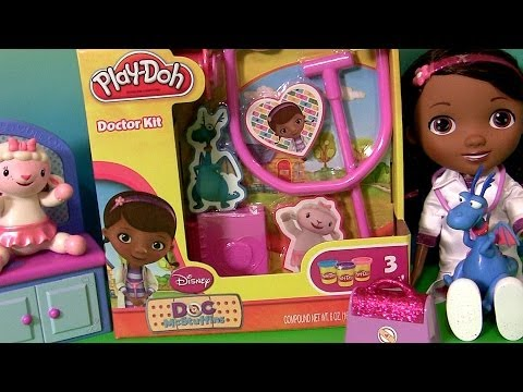 Massinhas Play Doh Doutora Brinquedos Disney Junior Play Dough Doc McStuffins Doctor Kit