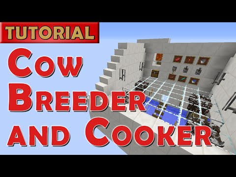 Minecraft Tutorial - Automated Cow Farm with Feature Overload