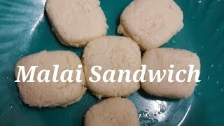 Malai Sandwich recipe/how to make malai sandwich (English subtitle)