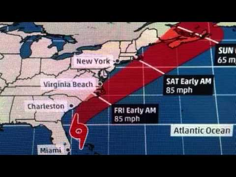 "Hurricane ""King Arthur"" Is Coming To The Carolina's / Virginia Beach VA"