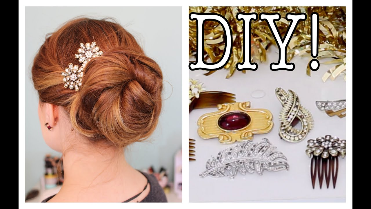 Easy DIY Sparkly / Statement Hair Accessories! - YouTube