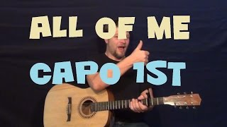 All Of Me (John Legend) Easy Strum Fingerstyle Guitar