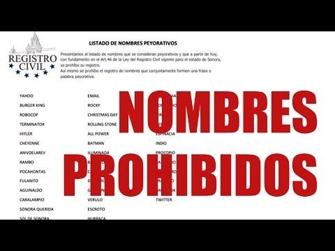 Estado mexicano de Sonora prohíbe nombres raros - WorldNews