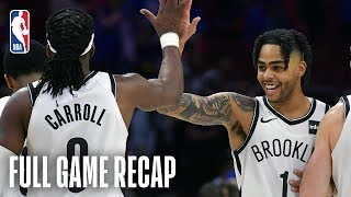 NETS vs 76ERS   D'Angelo Russell Scores 19 In The 2nd Half   Game 1