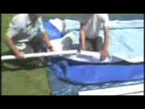 Montage piscine intex metal frame rectangulaire cash for Youtube cash piscine