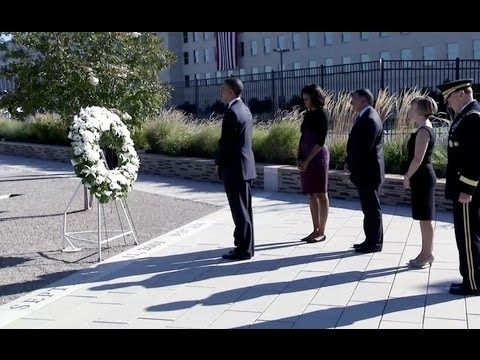 President Obama Speaks at a Pentagon Memorial Service in Remembrance of 9/11