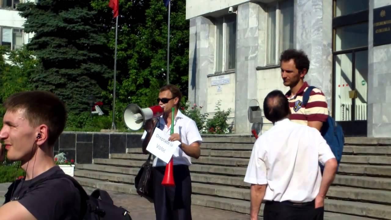 Protest la Procuratura generala #FreeVoloc