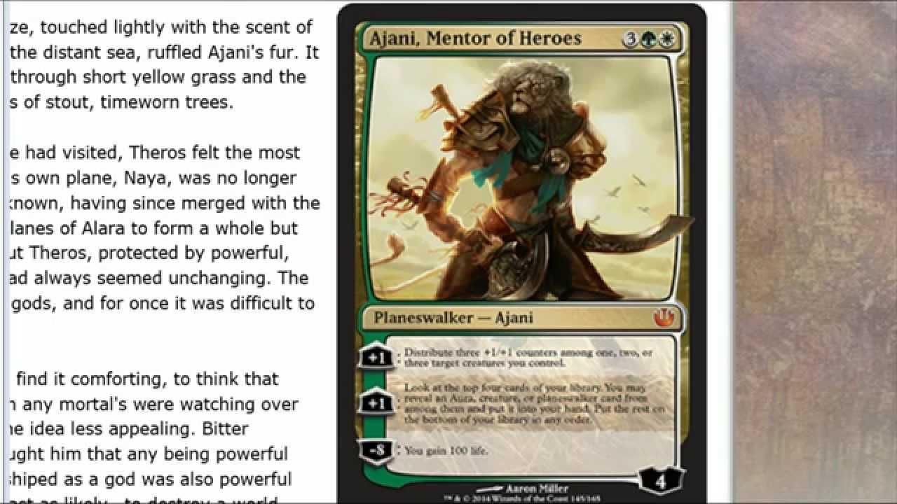 Ajani Mentor de Heroes Ajani Mentor of h