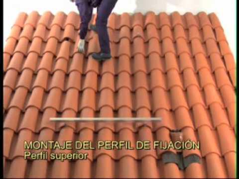 Instalacion de tejas de arcilla