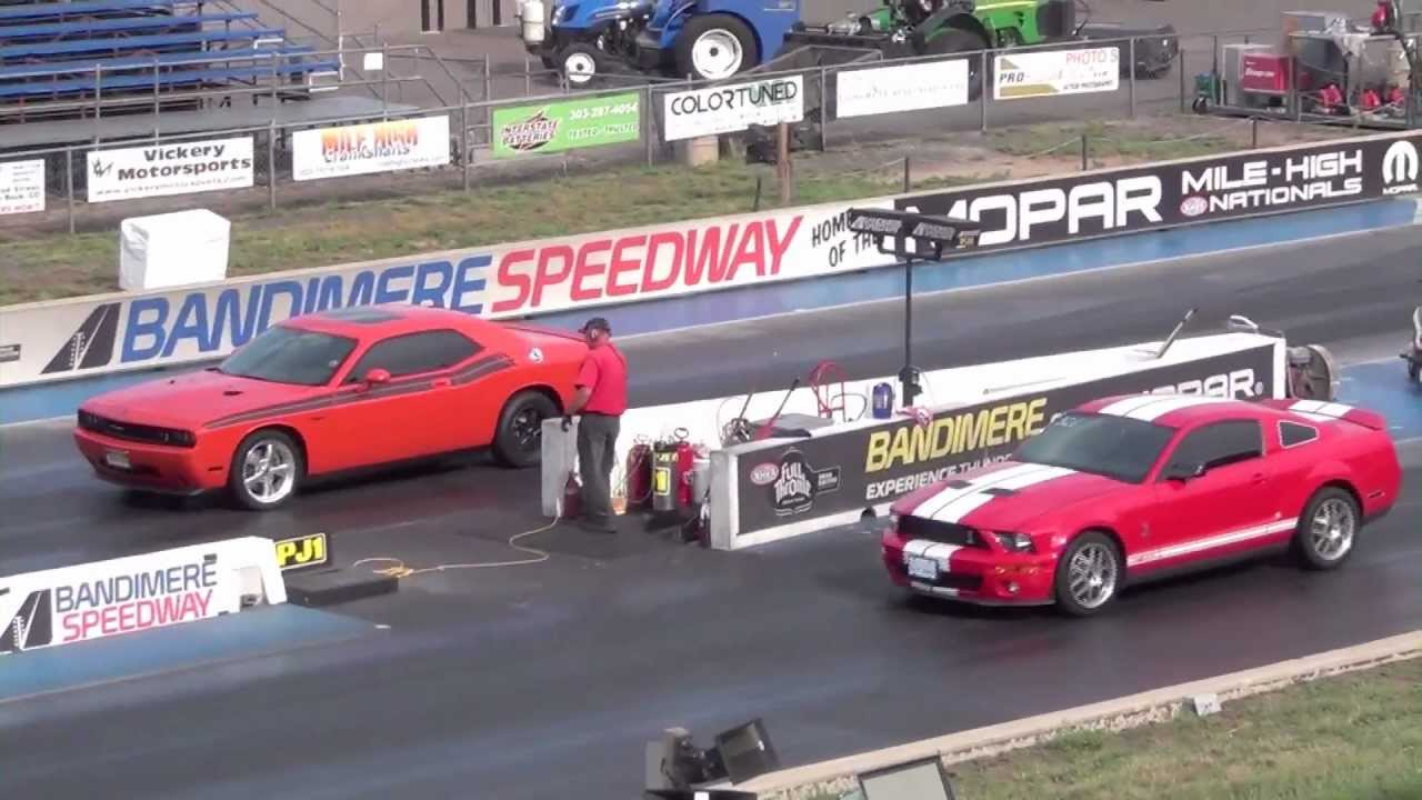 Dodge Challenger Rt Vs Shelby Mustang Gt500 Cobra Youtube