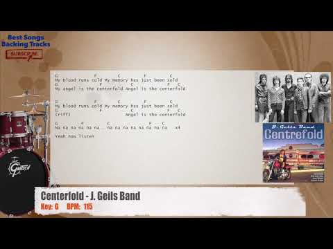 Centerfold - J. Geils Band Drums Backing Track with chords and lyrics
