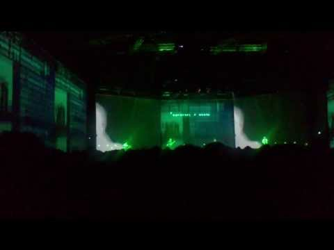 Massive Attack v Adam Curtis, performing 'Bela Lugosi is dead' by Bauhaus, Duisburg, Germany