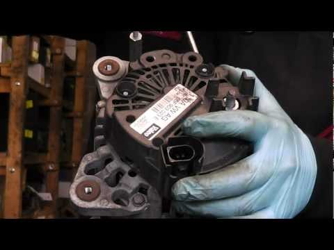Valeo alternator repair,common problem brush change.