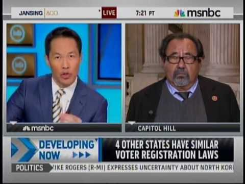 Rep. Grijalva Discusses Arizona's Restrictive Voter ID Proposal on MSNBC March 18, 2013
