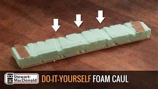 Watch the Trade Secrets Video, Custom-fit styrofoam clamping caul