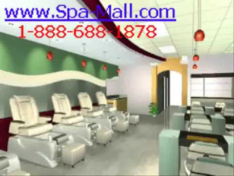Nail spa salon design youtube for A q nail salon