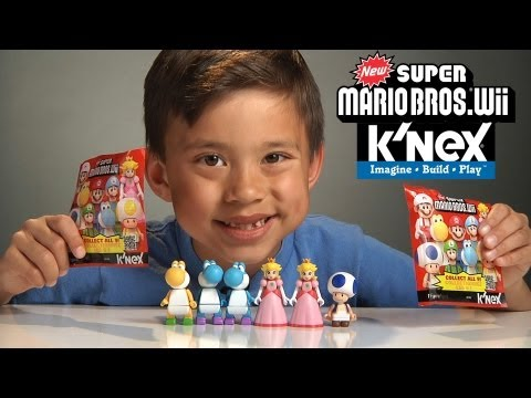 K'Nex Week Day #5 - NEW SUPER MARIO BROS Wii Mystery Figures!