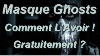 Call Of Duty Ghosts Comment Avoir Le Masque Ghosts