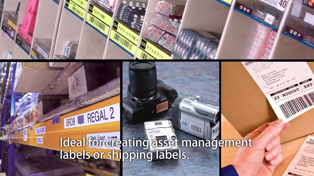 brother label printer templates - label printer solutions with brother p touch editor label
