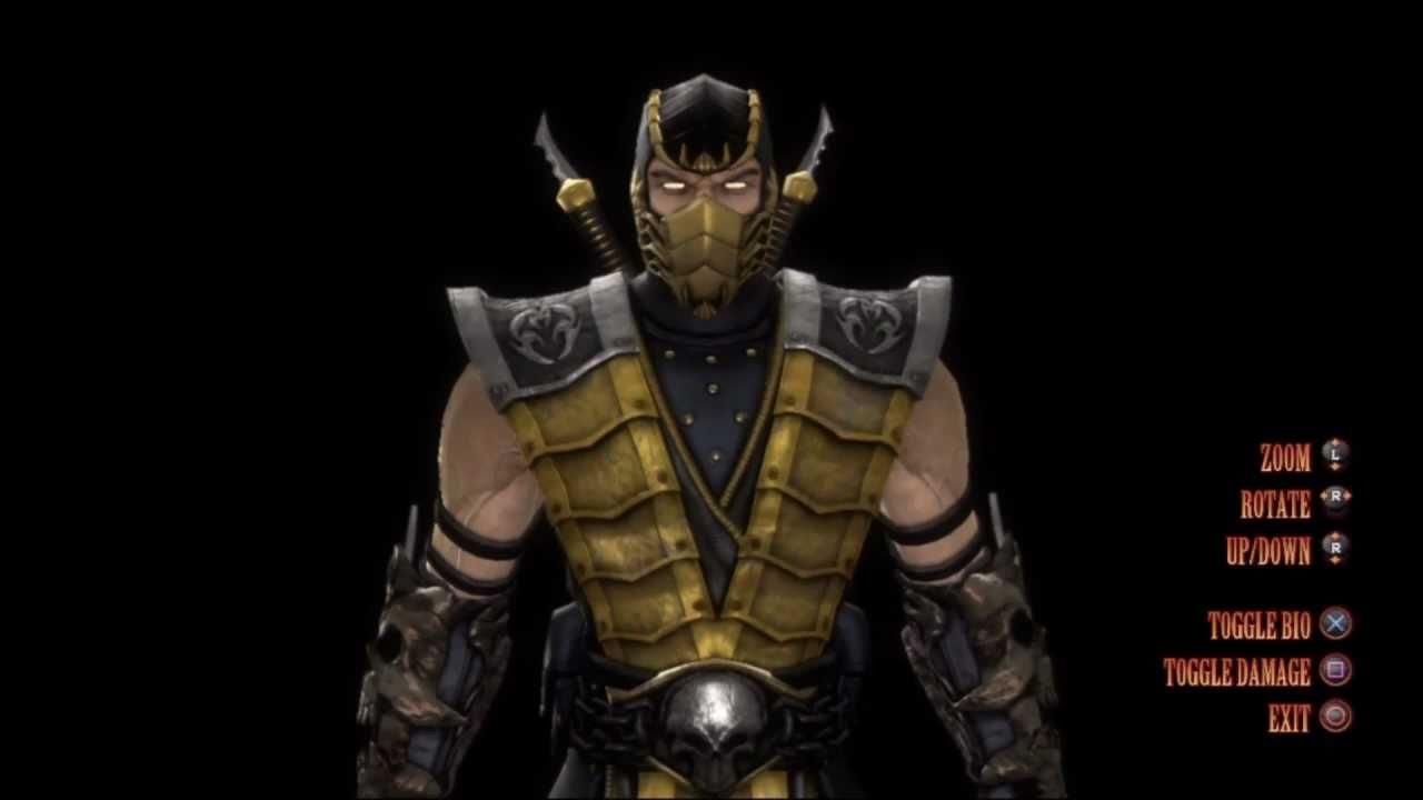 mortal kombat 9 scorpion alt costume bio youtube