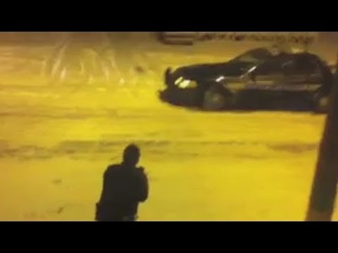 Ohio cops' snowball fight caught on camera