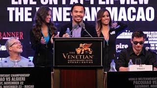 Full Manny Pacquiao Vs Chris Algieri Post Fight Press