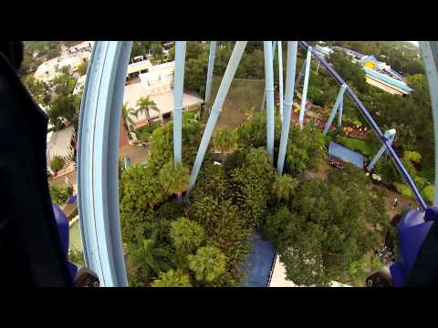 [HD1080] 'Manta' Coaster (Outward Facing), Seaworld, Orlando, Florida 2013