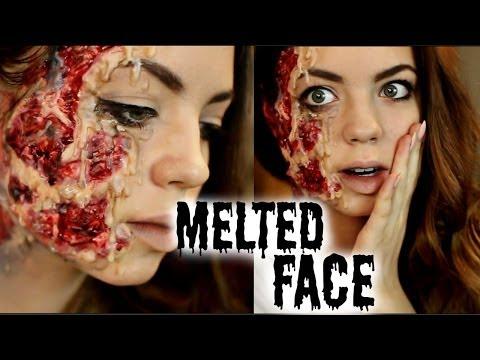 Halloween Makeup Tutorial: Melted Face⎟BeyondBeautyStar