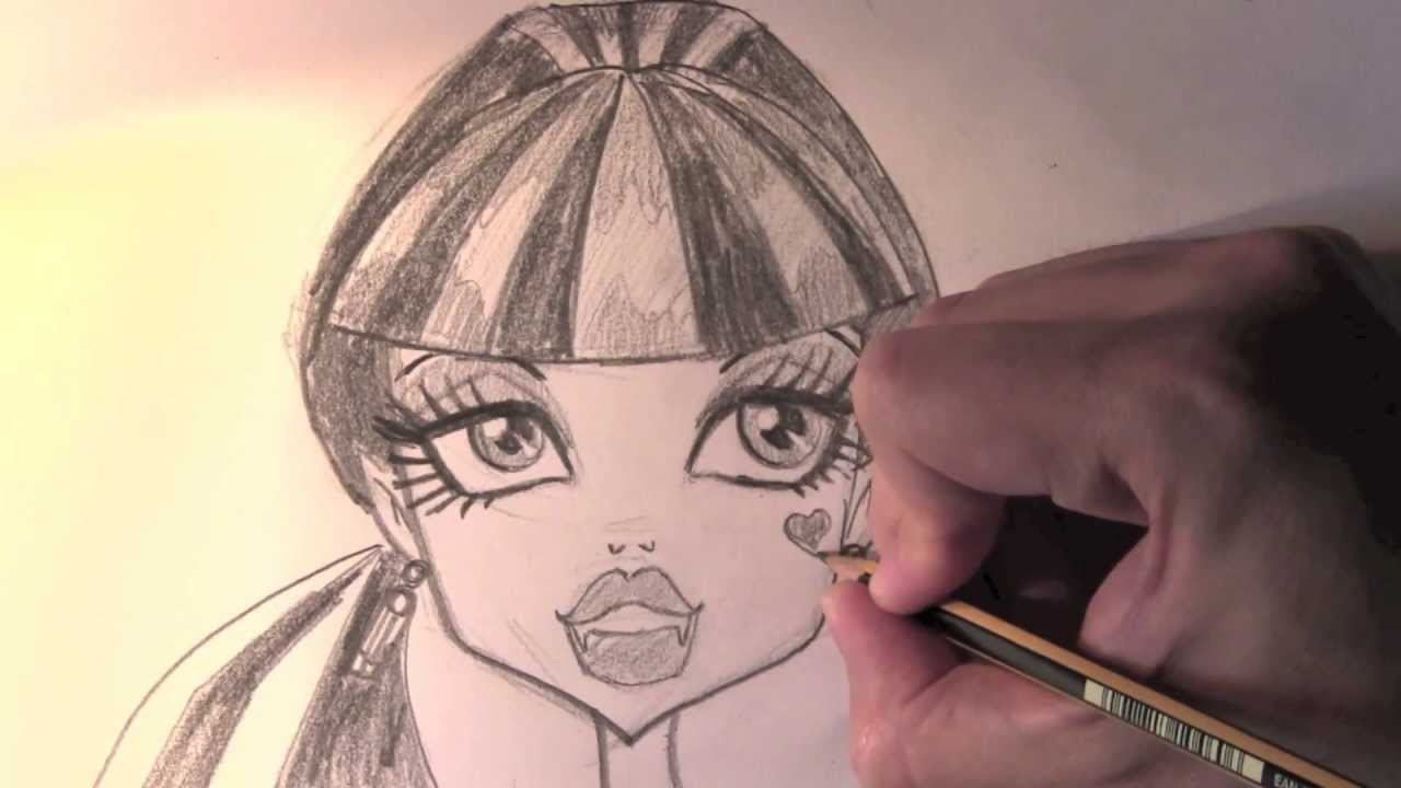 Comment dessiner draculaura etape par etape dessins de monster high youtube - Comment dessiner une monster high ...
