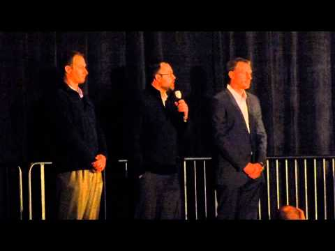 Detroit Tigers players Max Scherzer, Don Kelly, Joba Chamberlin answer questions at winter banquet