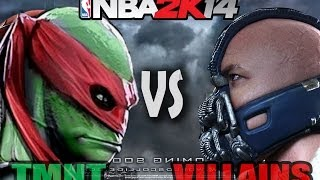 TMNT Ninja Turtles Vs Villains Battle In Baskeball (Bane