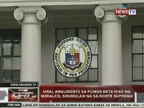 QRT: Oral arguments sa power rate hike ng Meralco, sinimulan na sa SC