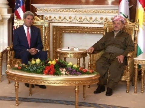 Raw: Kerry Meets With Kurdish Leader in Iraq