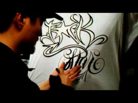 How to airbrush Graffiti Style - Part 2
