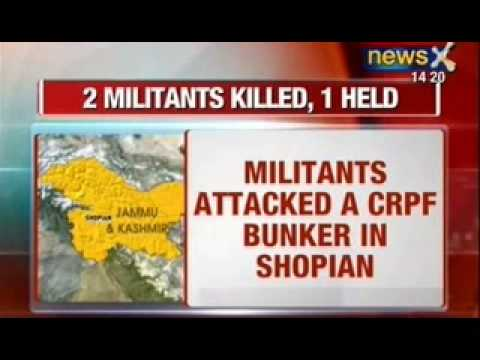 Breaking News : Two militants killed and one arrested in Kashmir's shopian