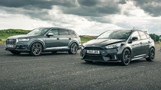 Audi SQ7 vs Ford Focus RS - Drag Races - Top Gear. Watch online.