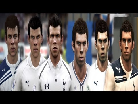Gareth BALE from FIFA 08 to FIFA 13 | PES 2008 to PES 2013 (Face ...