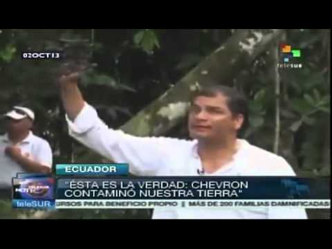 Chevron's Dirty Hand campaign beigins in Ecuador