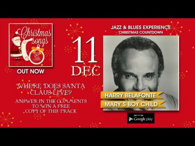 Christmas Songs - Advent Calendar - 11th December (Harry Belafonte)