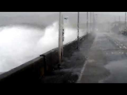 Powerful Storm Xaver Batters Stranraer, SW Scotland